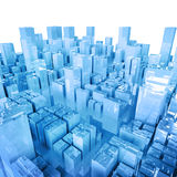 Abstract city. Abstract 3d city; quality 3d render royalty free illustration