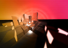 Abstract City. An abstract 3d city illustration Royalty Free Stock Images