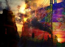 Abstract City. Elements combined abstract composition Royalty Free Stock Photo