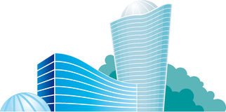 Abstract city. Houses (image symbolizes growing real estate market royalty free illustration