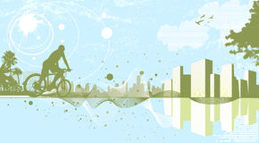 Abstract city background Stock Photography