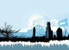 Abstract city background Royalty Free Stock Photo