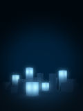 Abstract city background. Abstract blue glow city background Royalty Free Stock Photos