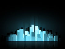 Abstract city background. Abstract blue glow city background Royalty Free Stock Photography