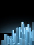 Abstract city background. Abstract blue glow city background Stock Images