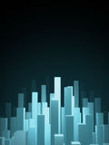Abstract city background. Abstract blue glow city background Royalty Free Stock Image