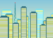 Abstract city background. Vector illustration Stock Photo