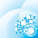 Abstract City Background. 3D structure and background, vector layered Stock Photography