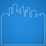 Abstract city background. Blueprint. Stock Image
