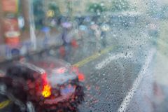 Abstract city background rain drops Stock Images