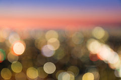 Abstract City blurred in twilight time for background. Stock Photography