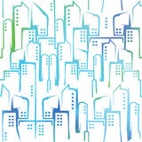 Abstract city building. Modern stylish architecture. Seamless pattern. Abstract city building. Modern stylish architecture. Vector seamless pattern vector illustration