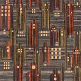 Abstract city buildings - seamless background, Ebony wood textue Stock Photo