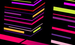 Abstract city with colored stripes. Royalty Free Stock Images