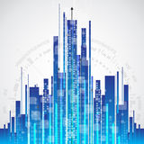 Abstract city communication technology background, vector Royalty Free Stock Photography