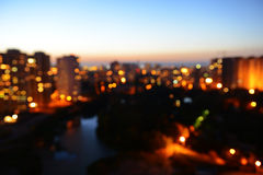 Abstract city in the evening Royalty Free Stock Images