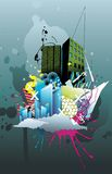 Abstract city  illustration Royalty Free Stock Image