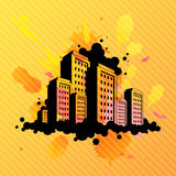 Abstract city illustration Royalty Free Stock Photography