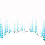 Abstract City. Illustration of an Abstract City Background with Music Equalize Royalty Free Stock Images