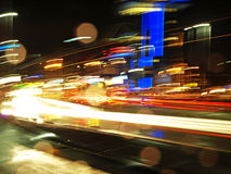Abstract city lights. Movement, lights in a big city Royalty Free Stock Photos