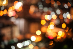 Abstract city lights background Royalty Free Stock Image