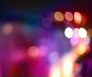 Abstract city lights blur blinking background. Royalty Free Stock Images