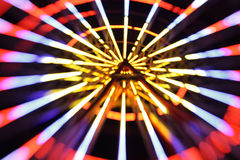 Abstract city lights blur blinking background. Soft focus royalty free stock images