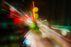 Abstract city lights. Colorful city lights abstract background Royalty Free Stock Images