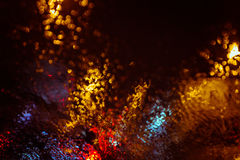 Abstract city lights defocused background Stock Photography