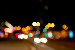 Abstract city lights. City lights defocused, abstract night scene Royalty Free Stock Photo