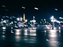 Abstract city lights in motion, Paris at night - travel in Europe concept. Elegant visuals stock photos