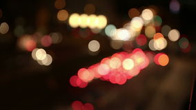 Abstract city lights at night stock video
