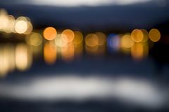 Abstract city lights at night out of focus Royalty Free Stock Photo