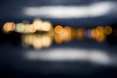 Abstract city lights at night out of focus Royalty Free Stock Photography