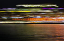Abstract city lights water reflection Royalty Free Stock Images