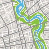 Abstract city map. Highly detailed abstract city map stock illustration