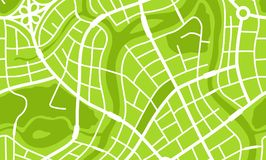 Abstract city map banner. Illustration of streets, roads and buildings Royalty Free Stock Images