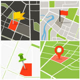 Abstract city map collection Stock Images