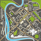 Abstract city map flat design illustration Royalty Free Stock Images