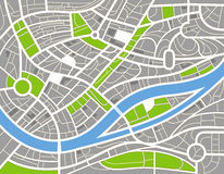 Abstract city map illustration Stock Photography