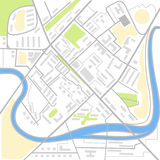 Abstract city map illustration Stock Photos