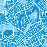 Abstract city map seamless pattern. Illustration of streets, roads and buildings Royalty Free Stock Images