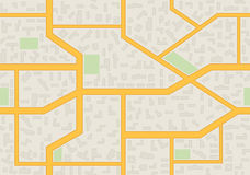 Abstract city map seamless pattern Royalty Free Stock Photography