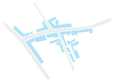 Abstract city map  Royalty Free Stock Images