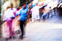 Abstract city people Stock Photos