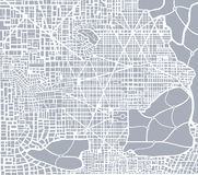 Abstract city plan Stock Image