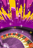 Abstract city With Roulette Stock Image
