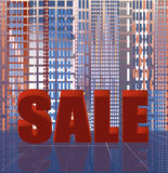 Abstract city sale background Stock Photos