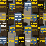 Abstract city seamless pattern Stock Images