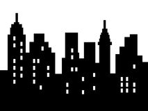 Abstract city silhouette Stock Photography